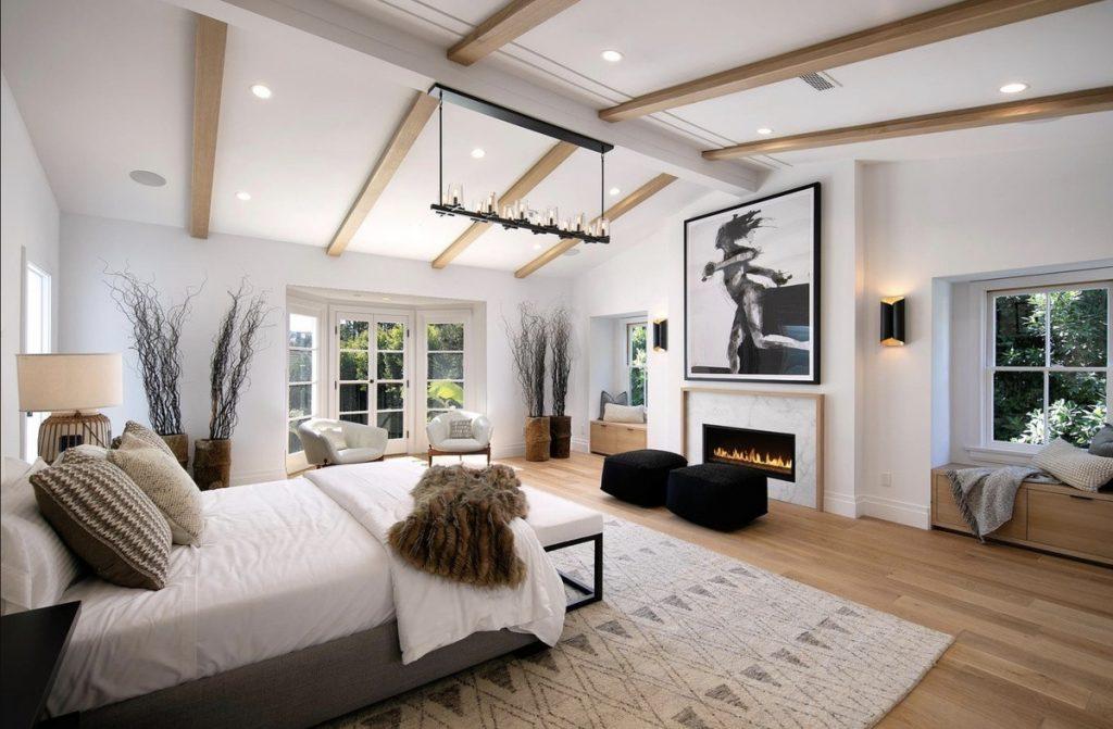 El dormitorio principal de la casa que venden Justin y Hailey