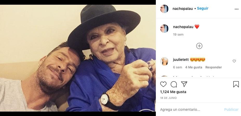 Nacho Palau, con Lucía Bosé, en Instagram