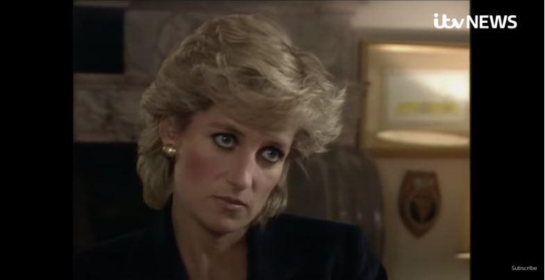 La Princesa Diana durante su polémica entrevista