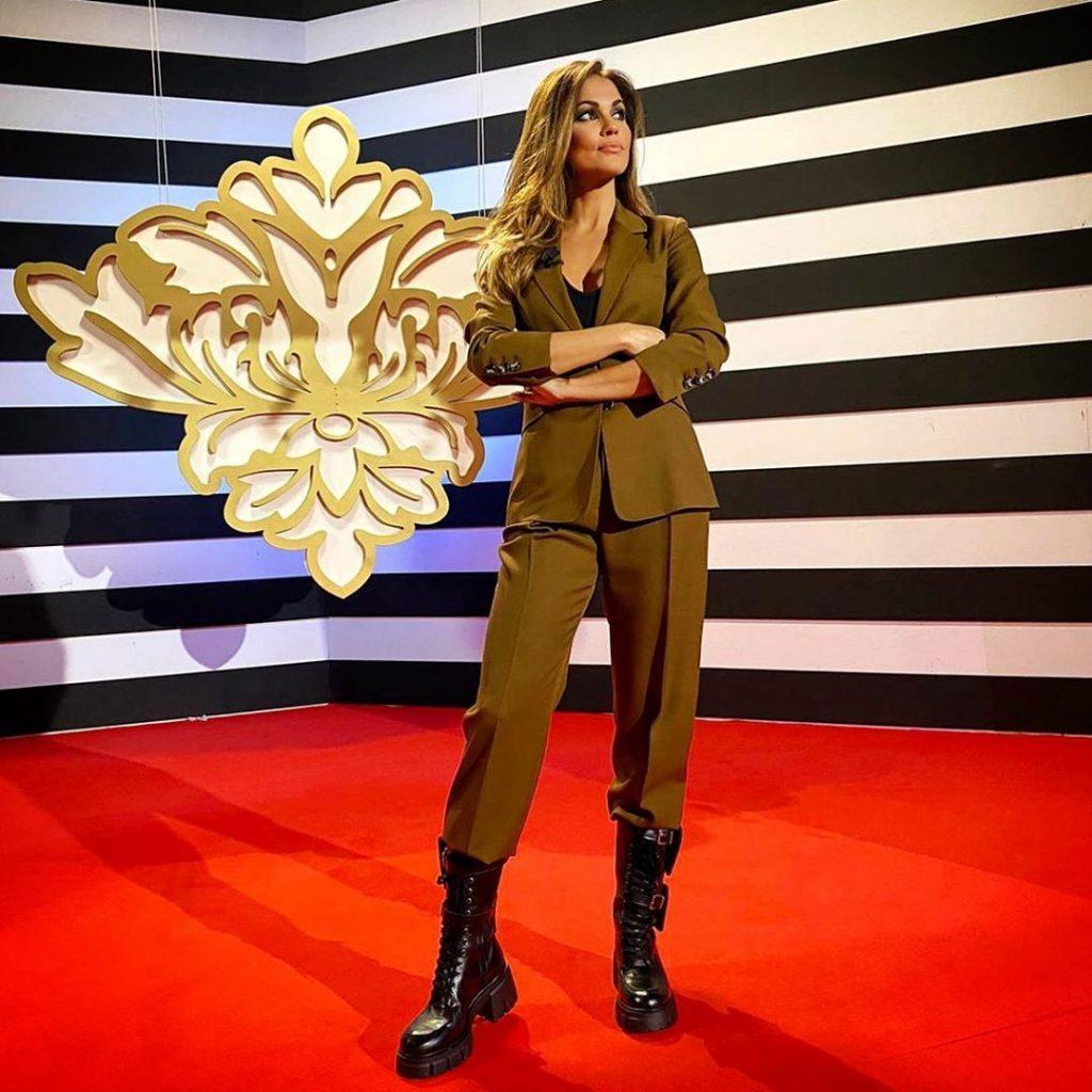 El look de Lara Álvarez en la primera gala de LCF2