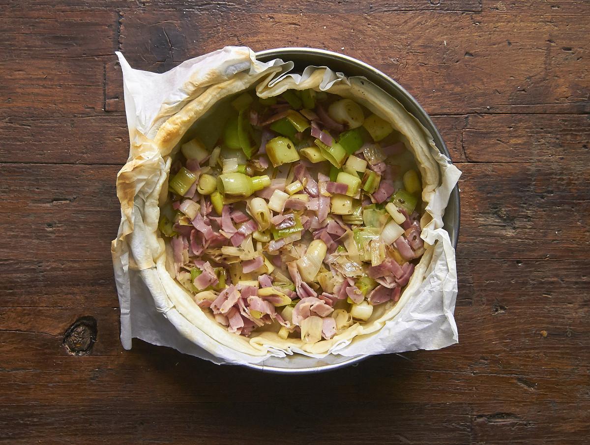 Una receta de quiche de bacon y puerros muy fácil de preparar