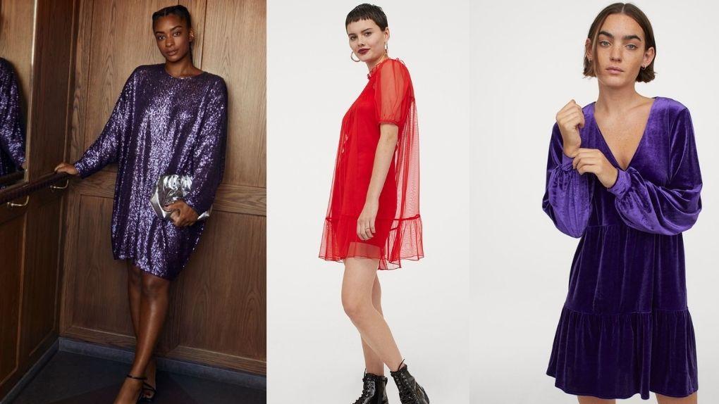 Tres vestidos de H&M