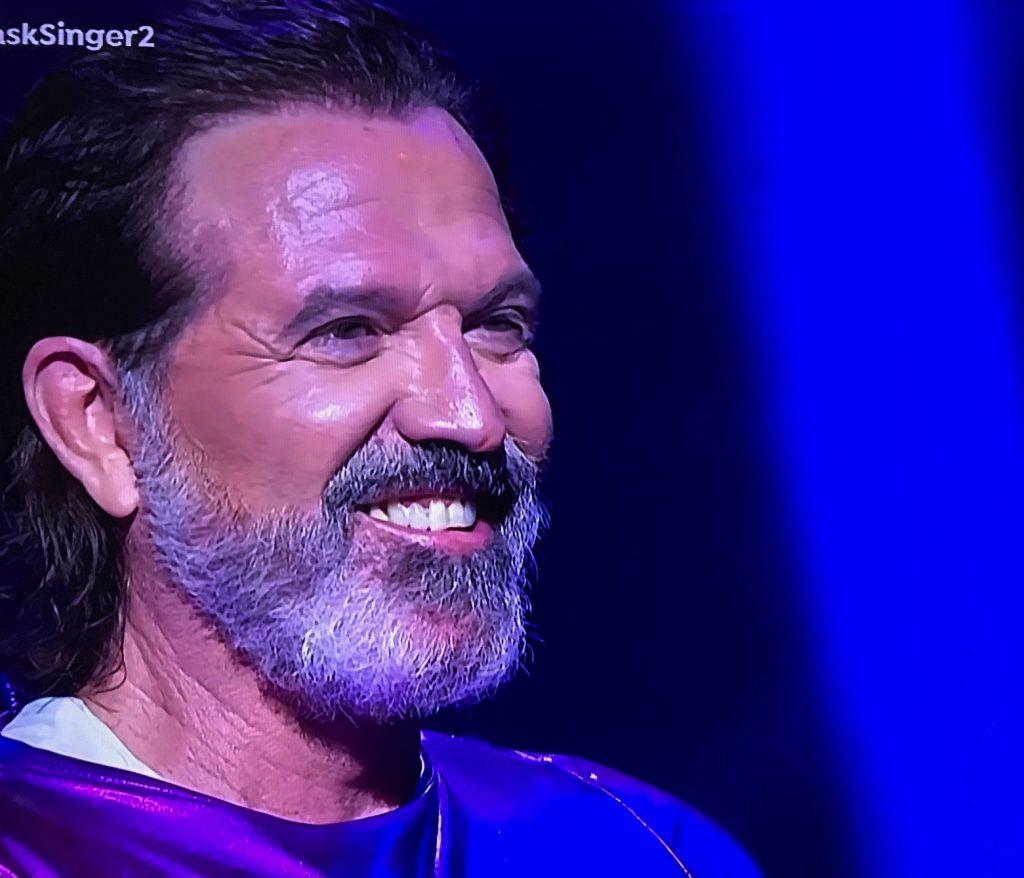 Pepe Navarro, que fue el segundo eliminado de Mask Singer, al quitarse el disfraz