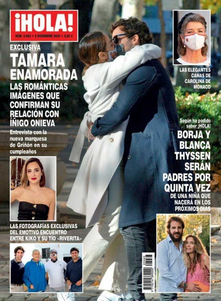 Tamara Falcó besa a Iñigo Onieva con mascarilla