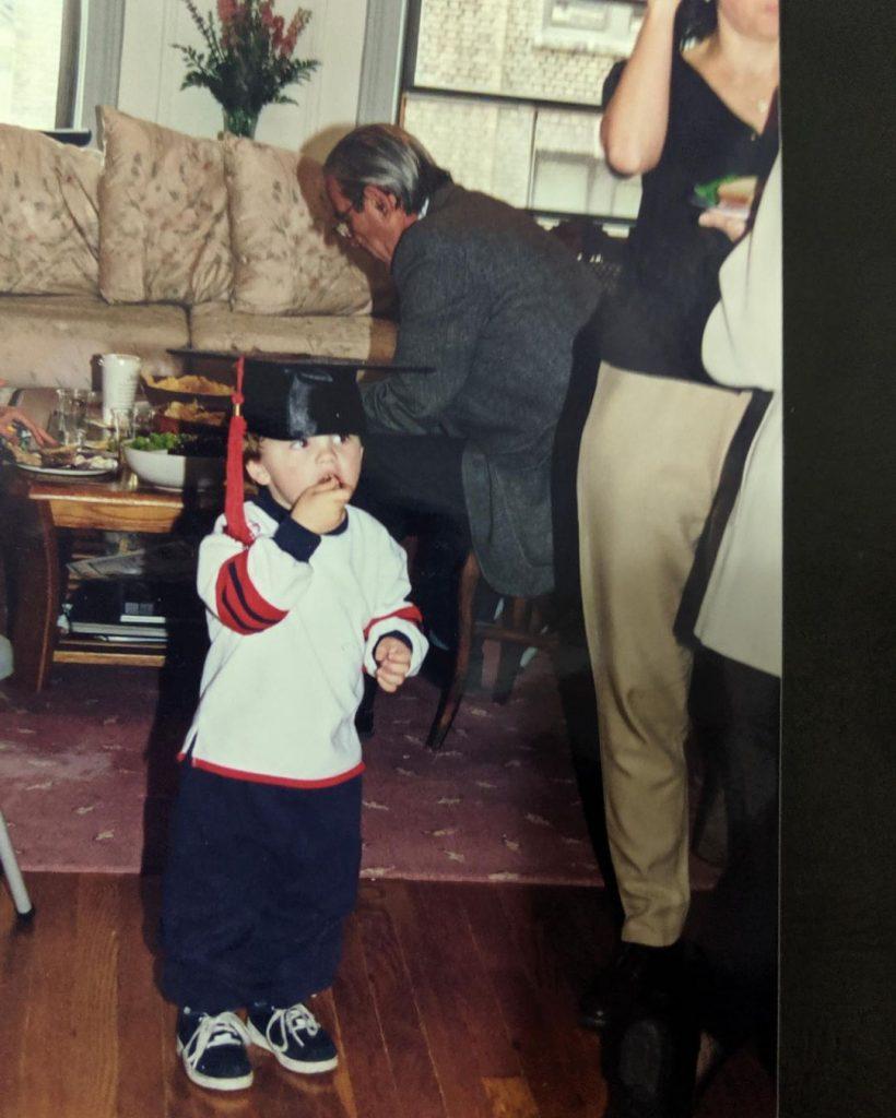 Timothée Chalamet, de pequeño, en su cumpleaños
