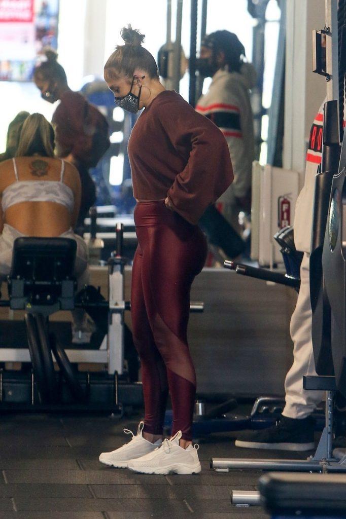 Jennifer Lopez entrenando.