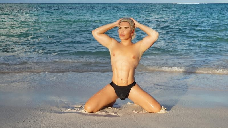 Jessica Alves, en Punta Cana, aún como Roddy Alves