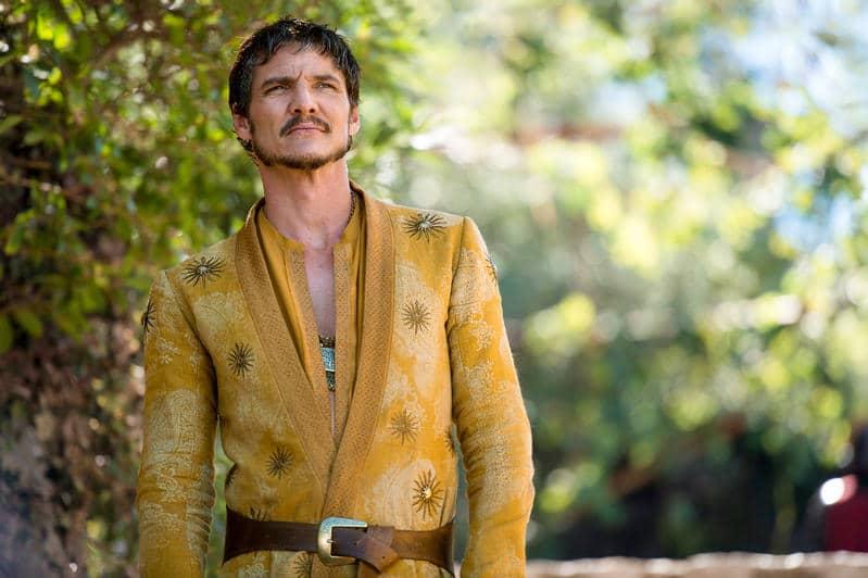 Pedro Pascal caracterizado como Oberyn