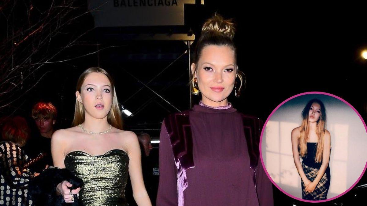 Lila Grace y Kate Moss