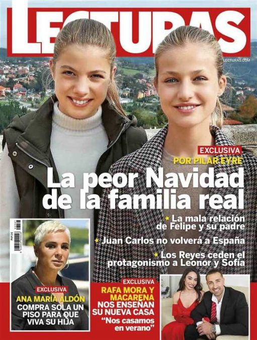 Las infantas Leonor y Sofía portada de Lecturas.