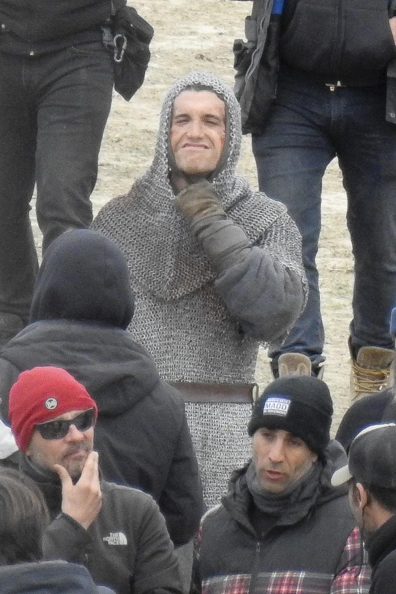 Jaime Lorente en el rodaje de El Cid
