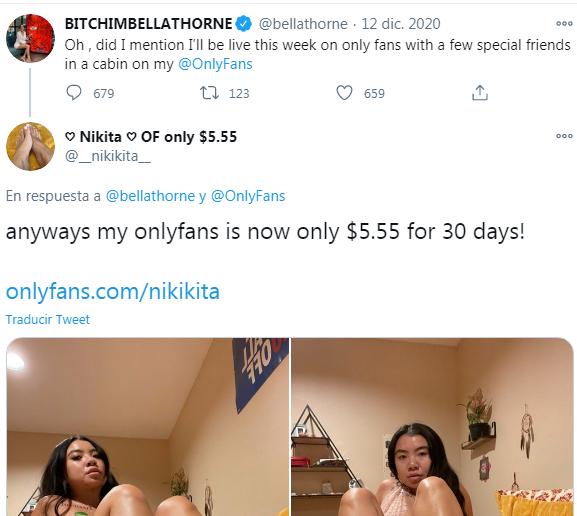 Bella Thorne en Only Fans