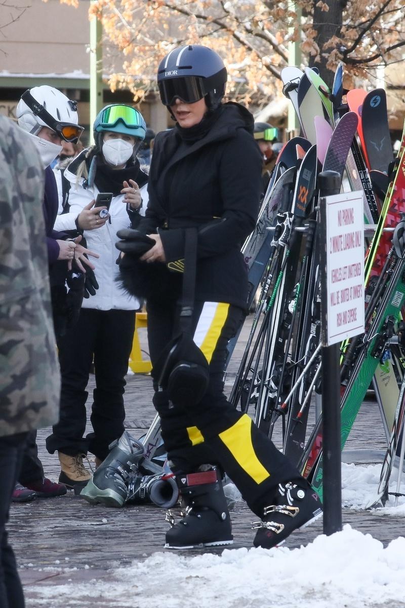 Kris Jenner en Aspen.