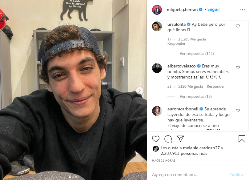 Miguel Herrán alarma a sus fans por mensaje en Instagram