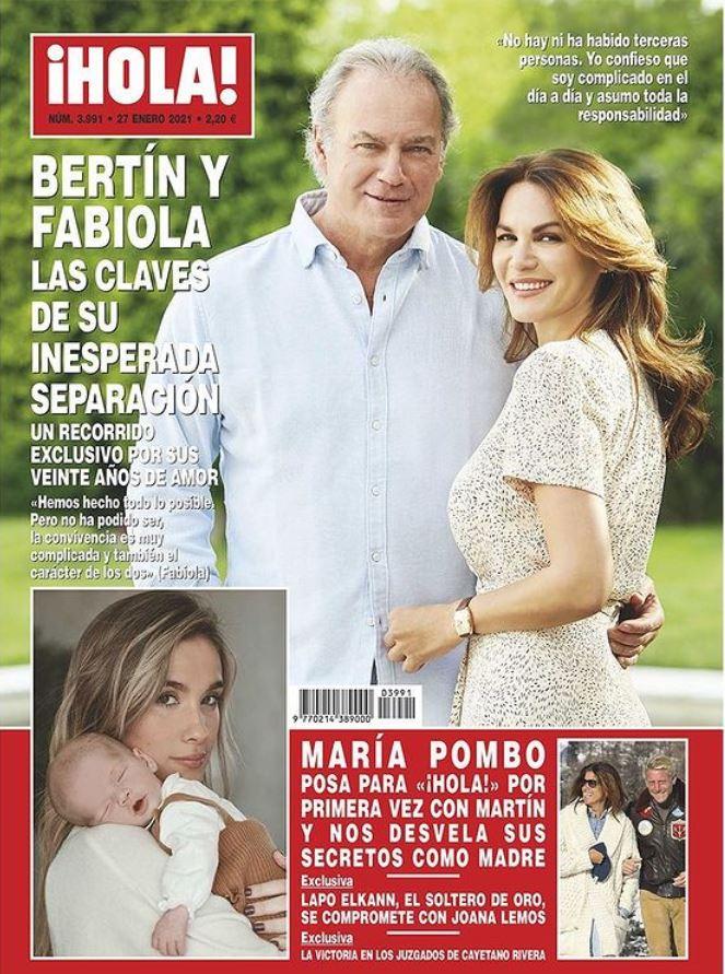 La separación de Bertín portada de Hola.
