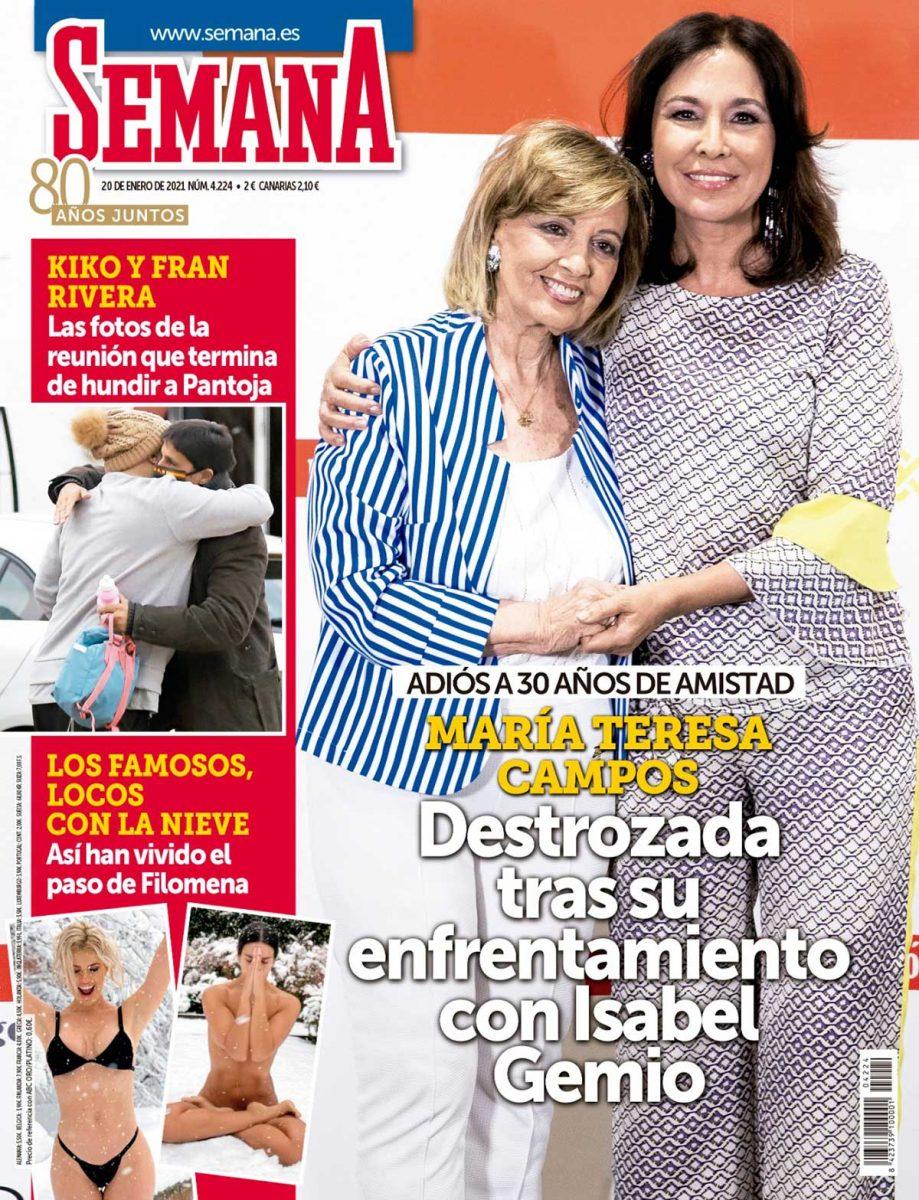 La guerra de Isabel Gemio y María Teresa Campos en la portada de Semana.