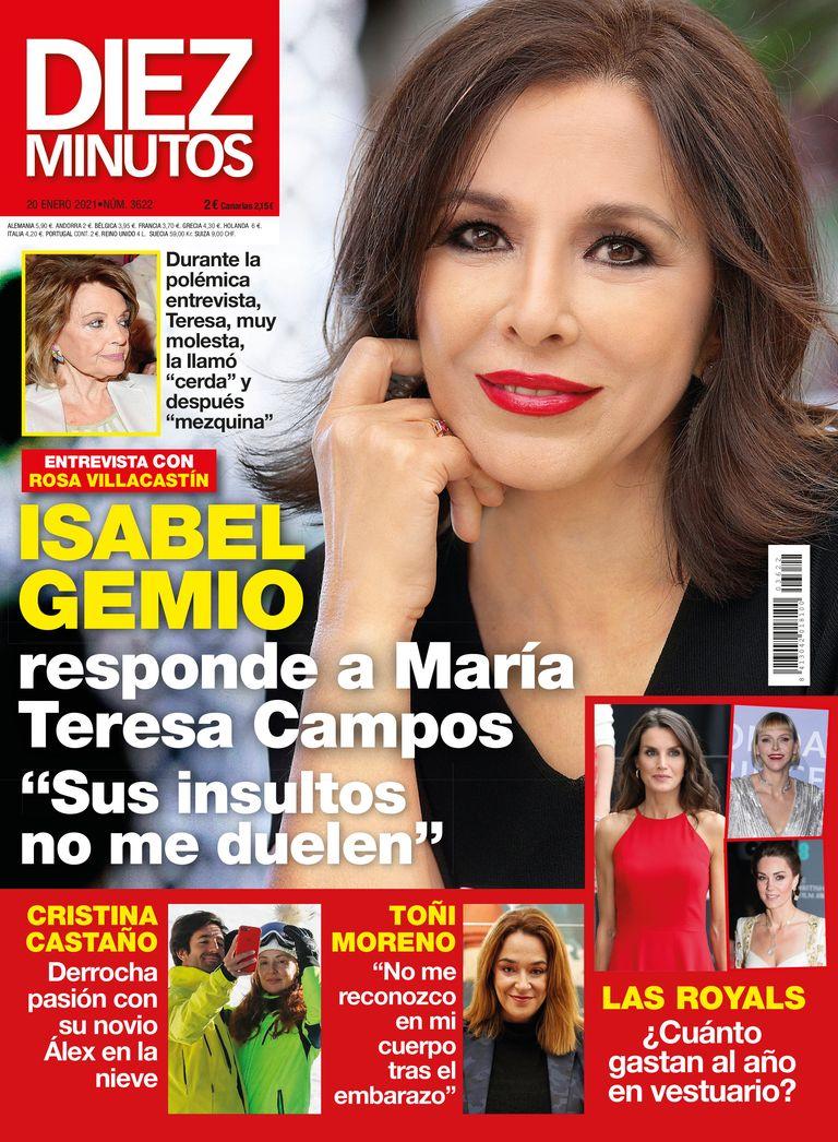 Isabel Gemio responde a Maria Teresa Campos en Diez MInutos.