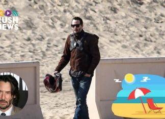 Keanu Reeves en la playa