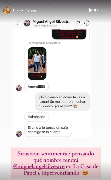 Miguel Ángel Silvestre y la Vecina rubia