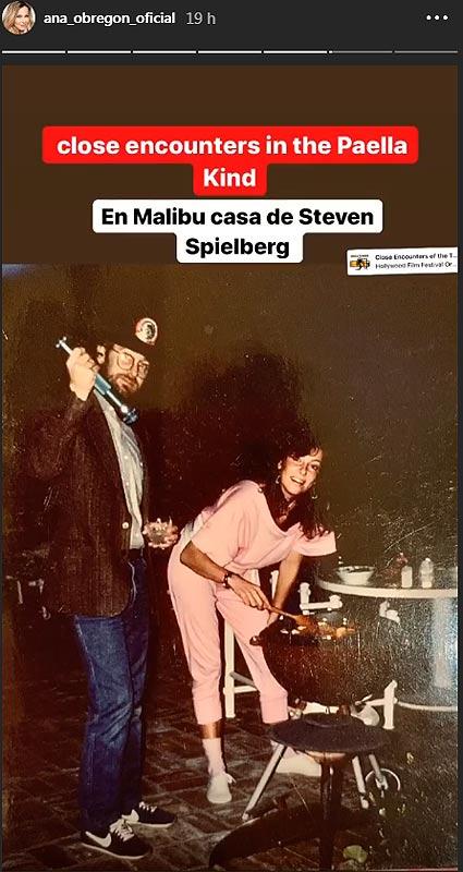 Ana Obregón y Steven Spielberg