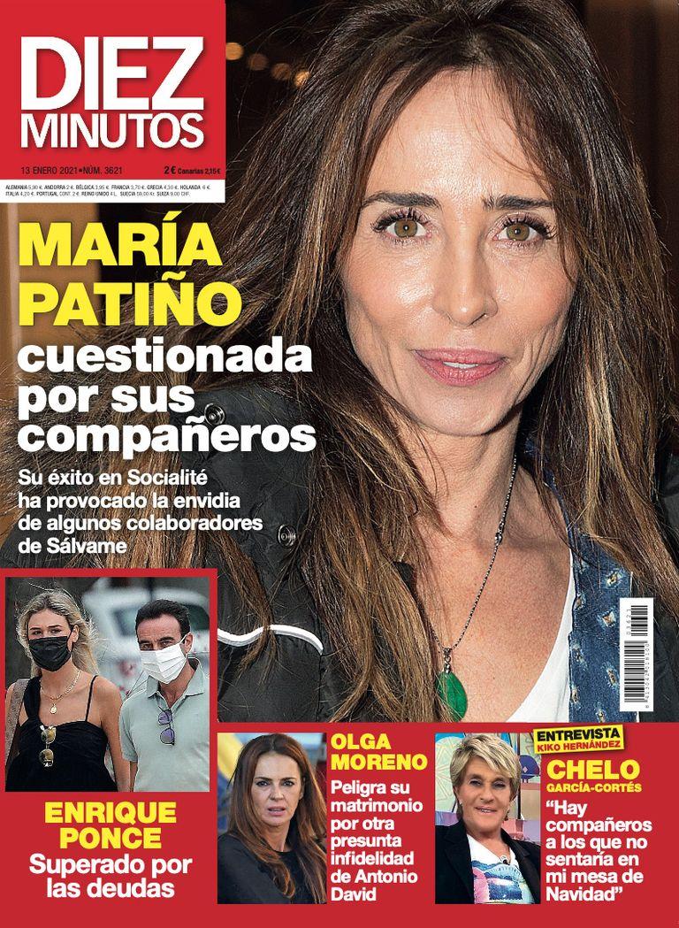 María Patiño en la portada de Diez Minutos.