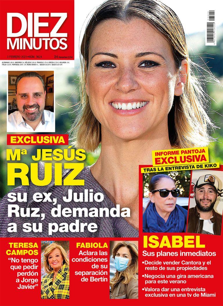 María Jesús Ruiz portada de Diez MInutos.