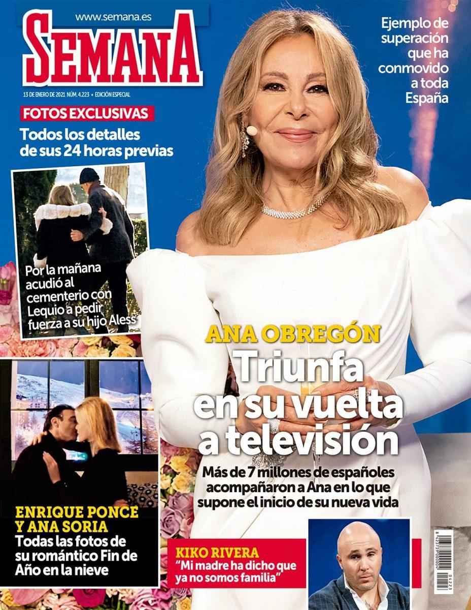 Ana Obregón en la portada de Semana.