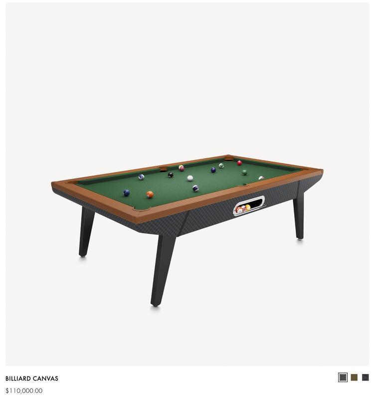mesa de billar de LV