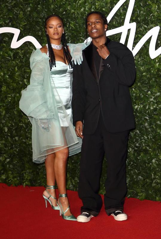 Rihanna con su novio, el rapero ASAP Rocky