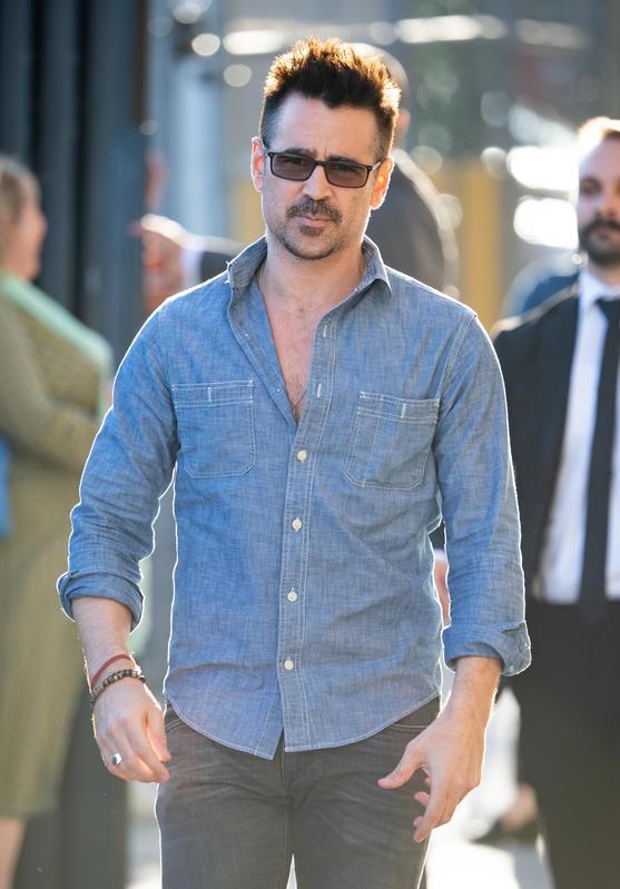 El cambio de look de Colin Farrell.