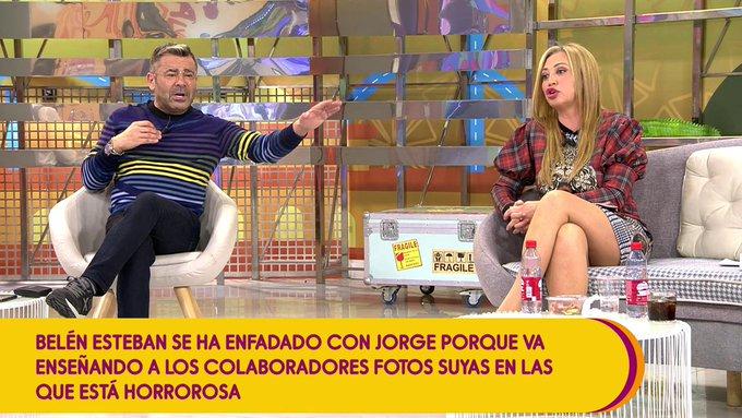 La bronca de Jorge Javier y Belén Esteban
