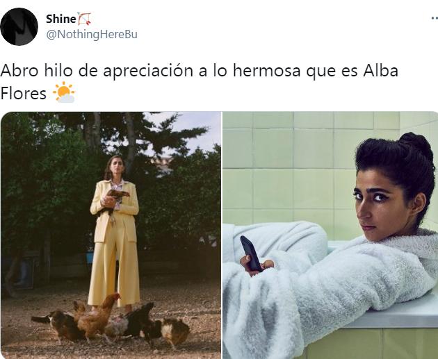 Un hilo para apreciar la belleza de Alba Flores