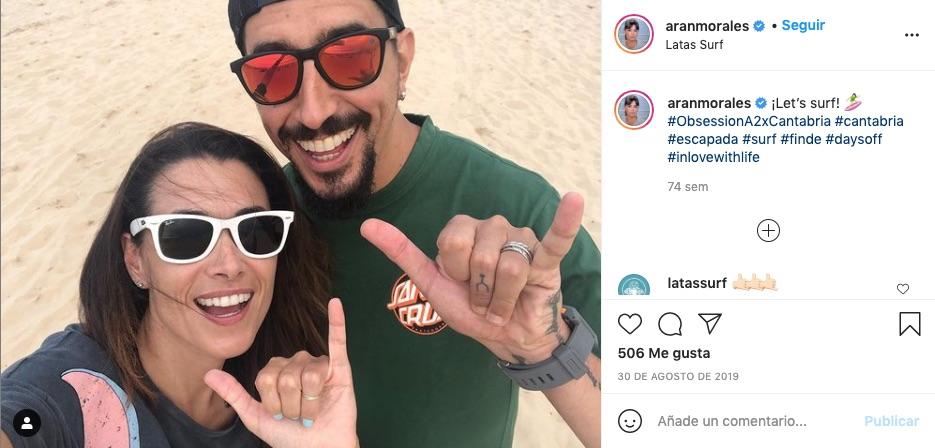 Post de Arancha Morales con su novio en Instagram