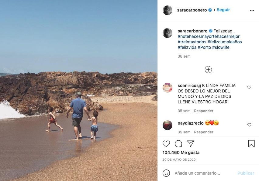 Post de Sara Carbonero felicitando el último cumple a Iker Casillas
