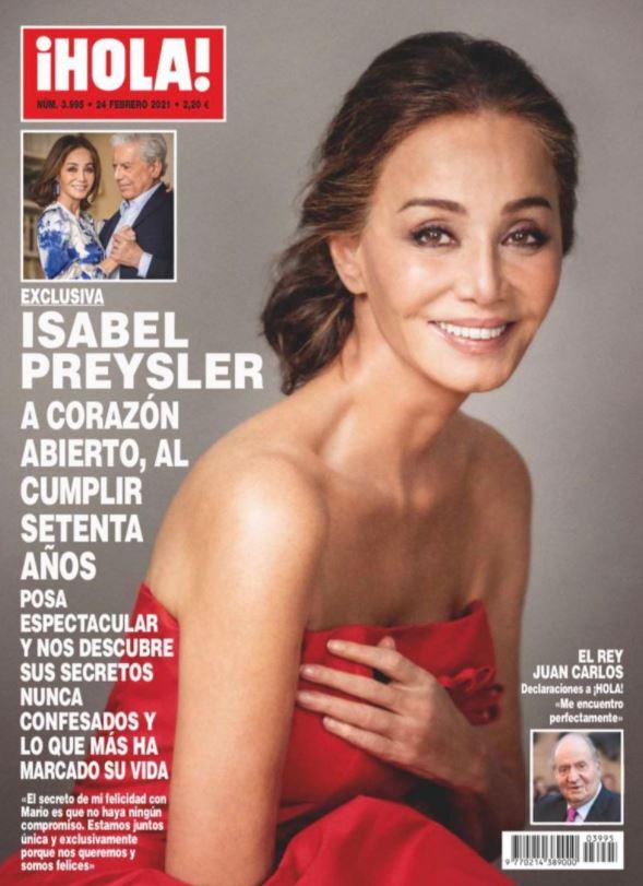 Isabel Presyler en portada de Hola.