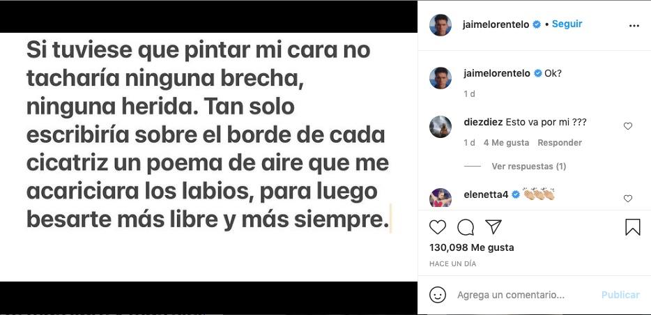Mensaje de Jaime Lorente