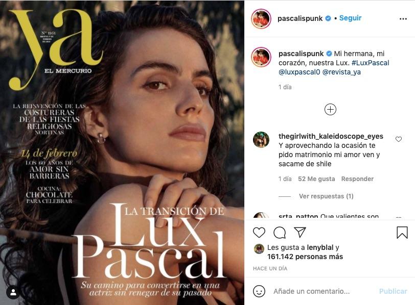 Lux Pascal, en la portada de Ya