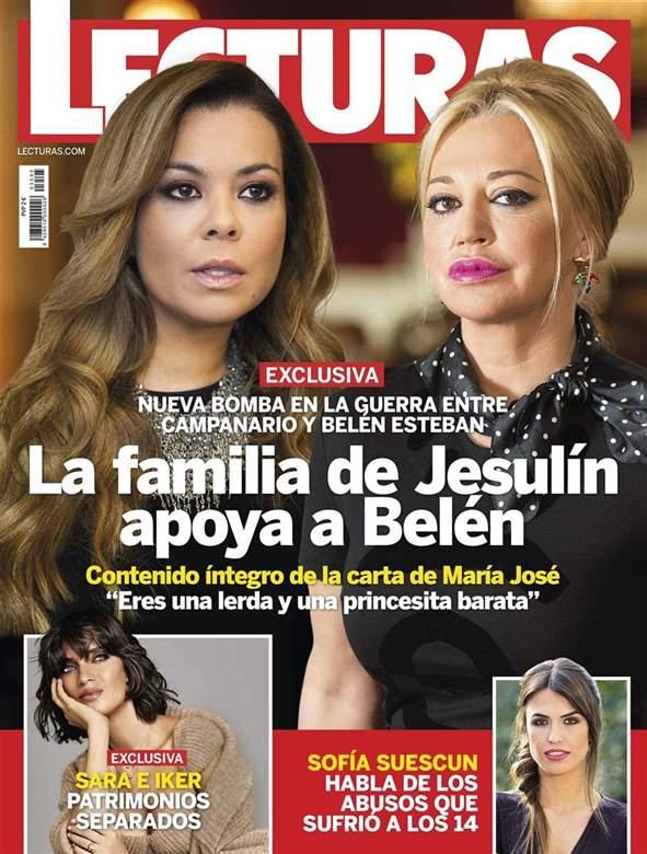 Belén Esteban y Campanario en portada