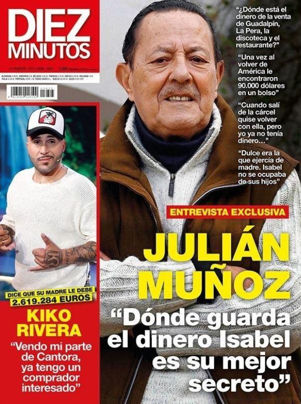 Julián Muñoz contra Isabel Pantoja en portada Crush.News