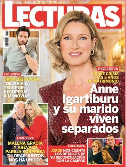 Anne Igartiburu se ha separado portada de Lecturas.