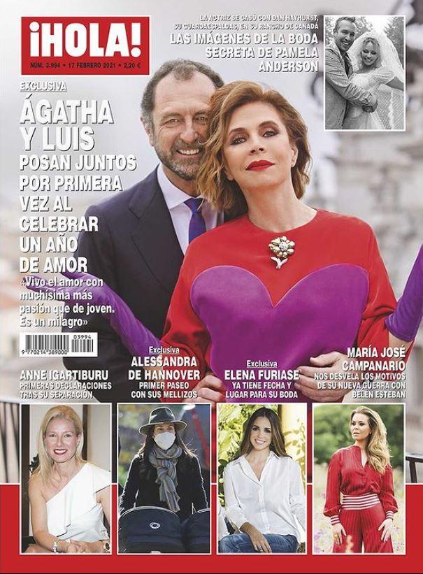 Ágatha Ruiz de la Prada en portada de Hola.