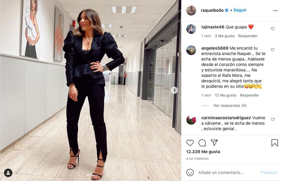 Post de Instagram en el que se ve el Rolex de Raquel Bollo
