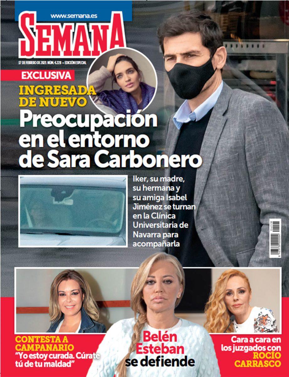 Sara Carbonero, ingresada portada Semana