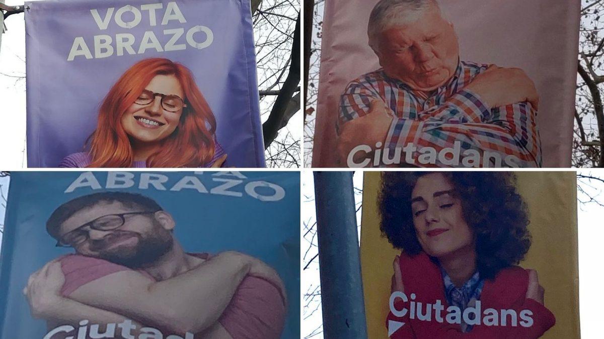 Campaña vota abrazo de Ciudadanos