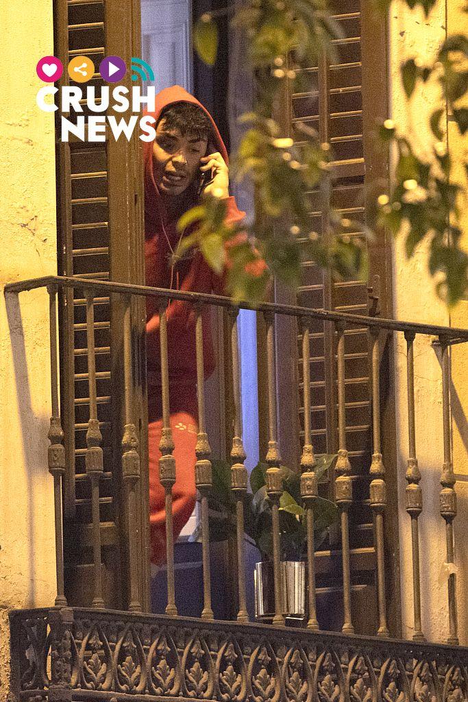 Mario Jefferson, en su balcón