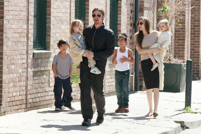 Brad Pitt y Angelina Jolie tienen 6 hijos en común