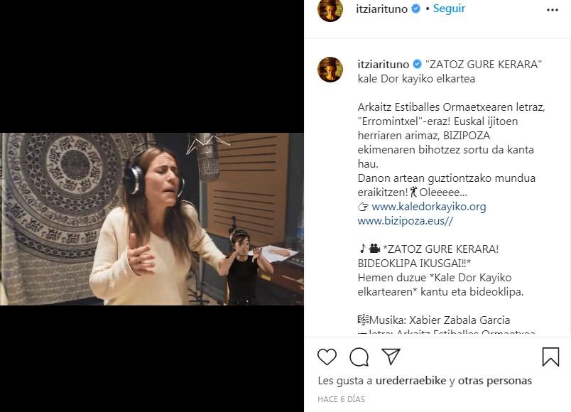 Itziar Ituño canta en el video  ZATOZ GURE KERARA del proyecto Bizipoza (+VIDEO)