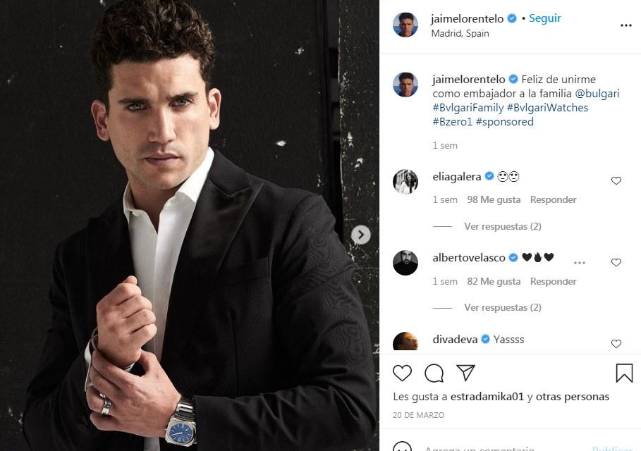 Jaime Lorente es embajador de relojes Bvlgary