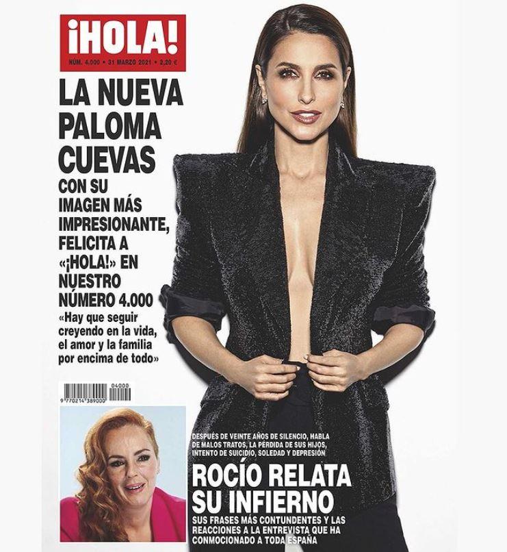 Paloma Cuevas portada de Hola.