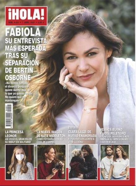 Fabiola Martínez portada de Hola